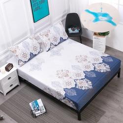 14 cor impermeável capa de colchão sólido macio equipado folha com elástico de alta qualidade colchão protetor capa ao ar permeável