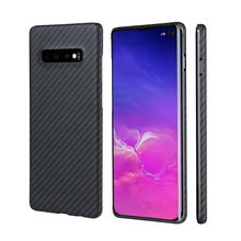 Body Armor Material Slim Aramid Fiber Case for Samsung S10, S10 , S10 Plus, S10e Cover Minimalist Thin Carbon Fibre Patterns