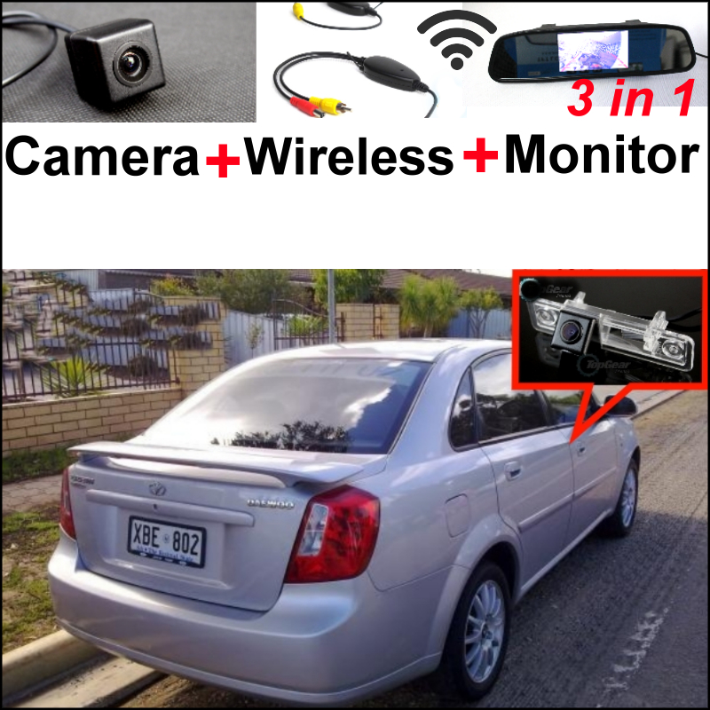 3in1 Special WiFi Camera + Wireless Receiver + Mirror  Parking System For Daewoo Lacetti / Nubira / Gentra