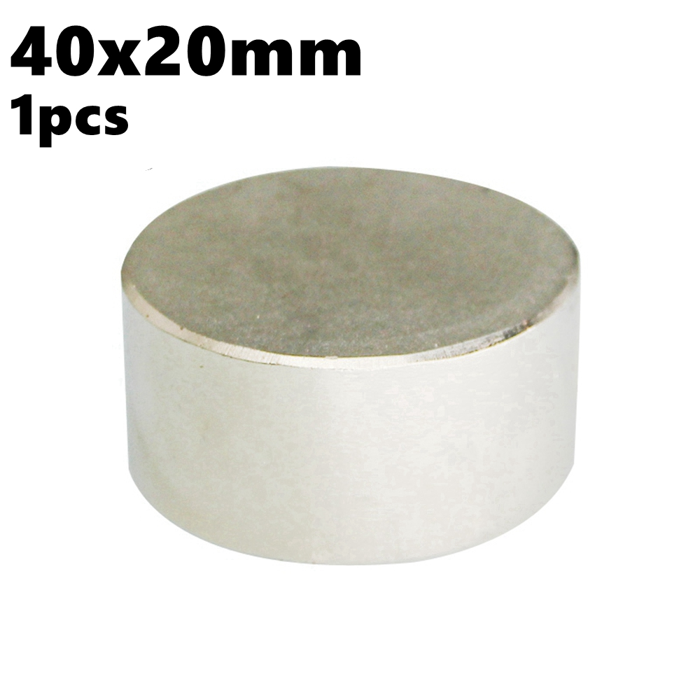 Super Powerful Magnetic Cylinder Magnet Disc 40mm x 20mm NdFeB 40x20 N35 Rare Earth Water Meter Magnets Neodymium StrongSuper Powerful Magnetic Cylinder Magnet Disc 40mm x 20mm NdFeB 40x20 N35 Rare Earth Water Meter Magnets Neodymium Strong