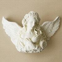 Скандинавский красивый ангел стены декоративные резиновые ремесла отель дома гостиная настенный ваза Настенный декор R1463