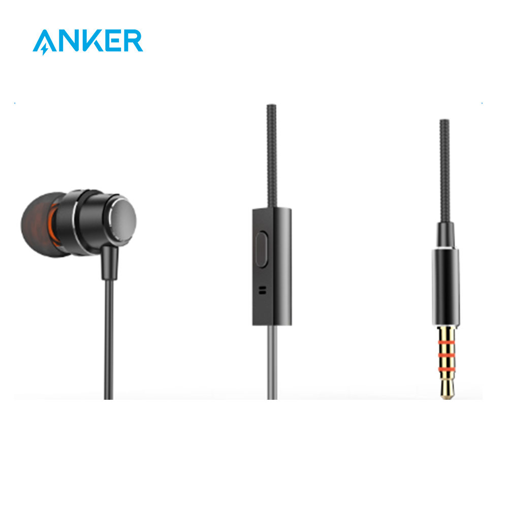 Anker 3.5mm Unilateral Earphone Premium Metal Finishing With Superior Sound Voice