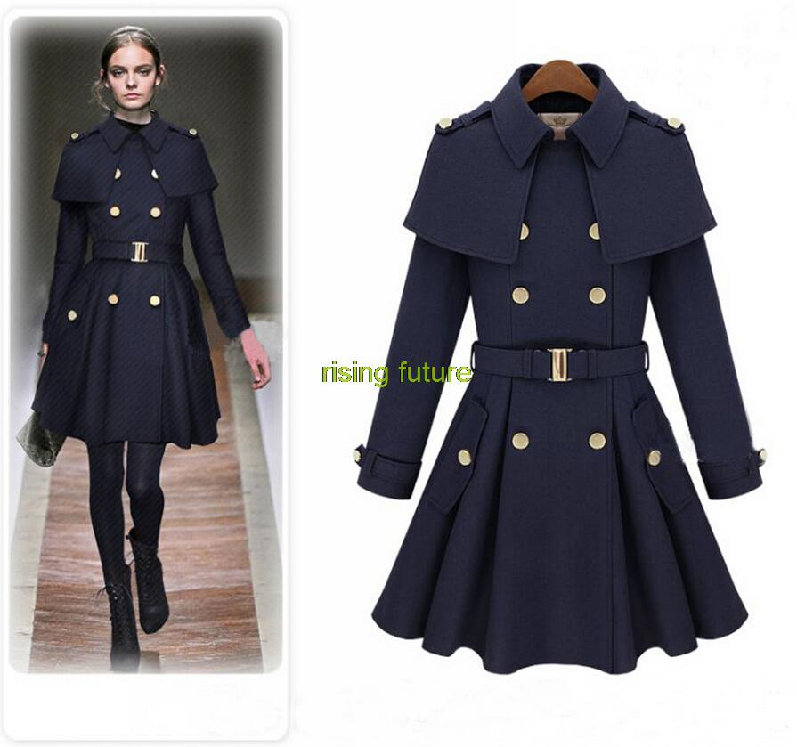 7edf4f09bae5 C155 Vintage WOMEN WOOL Winter Warm Long Jacket Slim Coat Trench Fashion  Parka Dress Outwear 3 Color For Choose