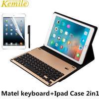 For IPad Mini Bluetooth Keyboard Leather Case Metal Smart Keyboard Cover Wireless Keyboard For Ipad Mini1