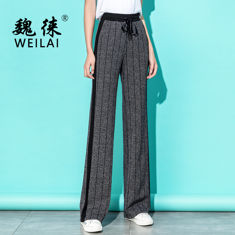 2019 Spring Summer Women High Waist   Wide     Leg     Pants   Palazzo Streetwear Harajuku Gothic Korean Plus Size 5XL Trousers for Ladies