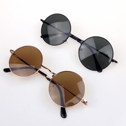Steampunk óculos de Sol Óculos Redondos Óculos Retro Vintage estrela no mesmo Estilo Hippie personalidade óculos de sol de vidro verão