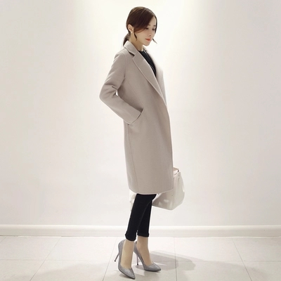 Autumn and winter new female temperament slim slim wool coat woolen coat large size women coat ws7511 men s autumn winter wear british style slim coat khaki l
