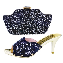 (HS001)แอฟริกันรองเท้าและกระเป๋าสตรีตั้ง!ที่มีคุณภาพสูงอิตาลีรองเท้าและกระเป๋าที่ตรงกันสำหรับงานแต่งงาน!จัดส่งฟรี!