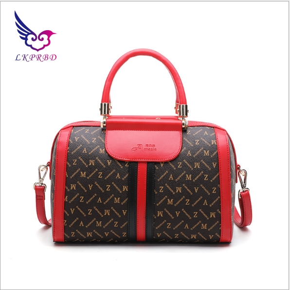 lkprbd 2018 new 100% Boston leather handbags fashion design boutique single shoulder bag brand ladies printed pillow bag lkprbd new handbag fashion 100