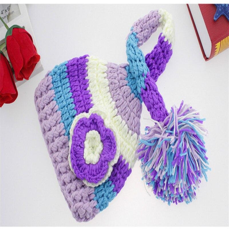Sombrero de invierno para las niñas punto niños CAPS con la cola ...