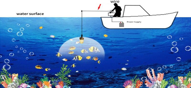 140 w gota profunda subaquática isca inventor