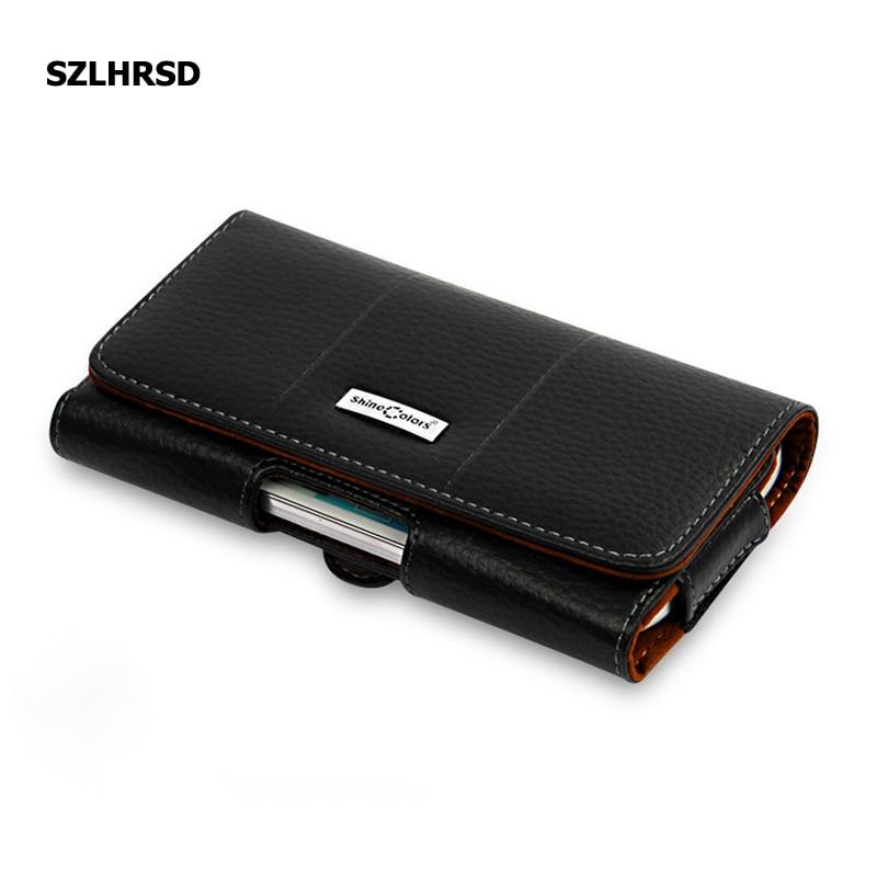 SZLHRSD Genuine Leather Belt Clip Pouch Cover Case for Vivo Z1i Vivo V9 Youth V9 6GB Jinga Joy Pro Optim Phone Wallet Pouch