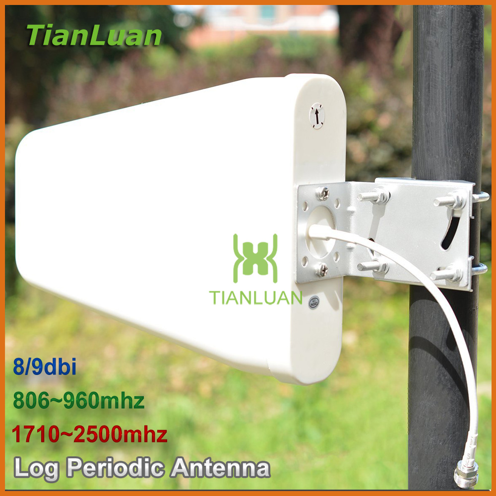 External Antenna Outdoor Directional Log Periodic Antenna N Female For 2G 3G CDMA GSM DCS PCS W-CDMA Signal Booster Repeater