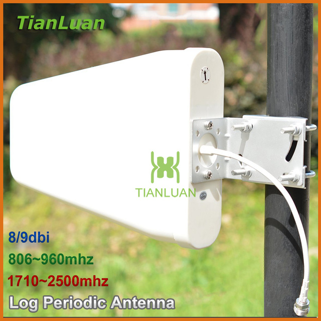 External Antenna Outdoor Directional Log Periodic Antenna N female for 2G 3G CDMA GSM DCS PCS W CDMA Signal Booster Repeater