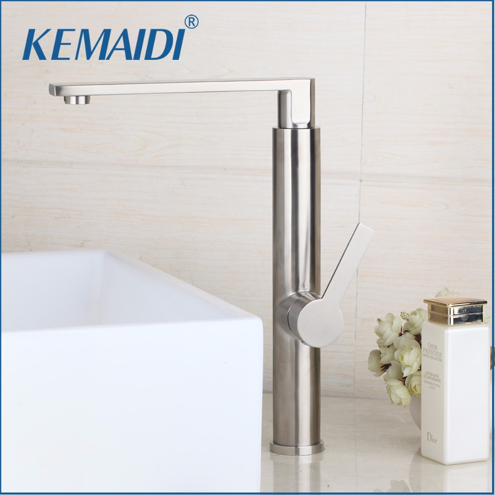 KEMAIDI New Design Bathroom Basin Faucet Mixer Waterfall Hot And Cold Water Taps Bathroom Sink Faucets Tap Deck Mounted Mixer led waterfall bathroom basin faucet deck mounted washbasin bathroom tap 5 pcs set flush cold and hot water mixer taps