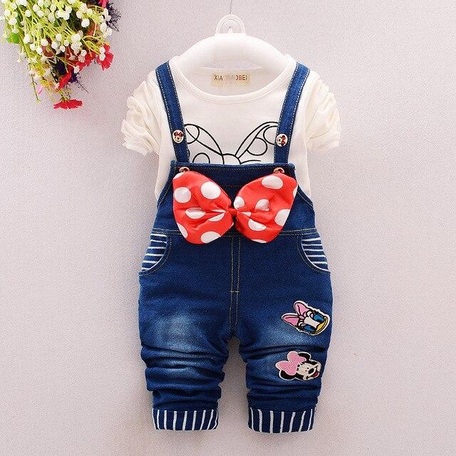 2016 Новый Мальчик Футболка + Ремень Джинсы с Бесплатным Мальчик Моды Коллекции Одежды для Новорожденных