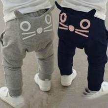 Cute Cat Baby Kids Boys Girls Pants Cotton Warm Clothing Trousers Harem Pants Bottoms Clothes 3-24M(China)