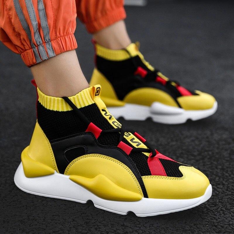 Wear Street Moda Sapatilhas Dropshipping 2019 Homens Spring Preto cinza Da amarelo Sapatos w8EU5q
