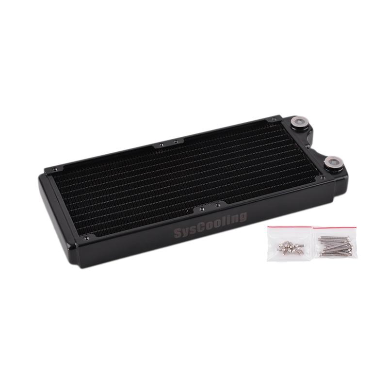 Jaunā melnā radiatora augstas veiktspējas PT240 vara dzesēšanas sistēma