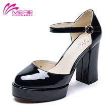 Aokang 2016 New Arrival Ladies Shoes Women Sandals High Heels Sexy Platform sandals pointed Toe Wedge Party Free shipping