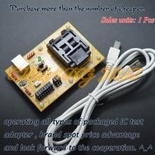 IC обнаружить STM8-QFP32 основной плате скачать сиденье тестовое гнездо программист адаптер TQFP32 STM8S STM8L STM8A