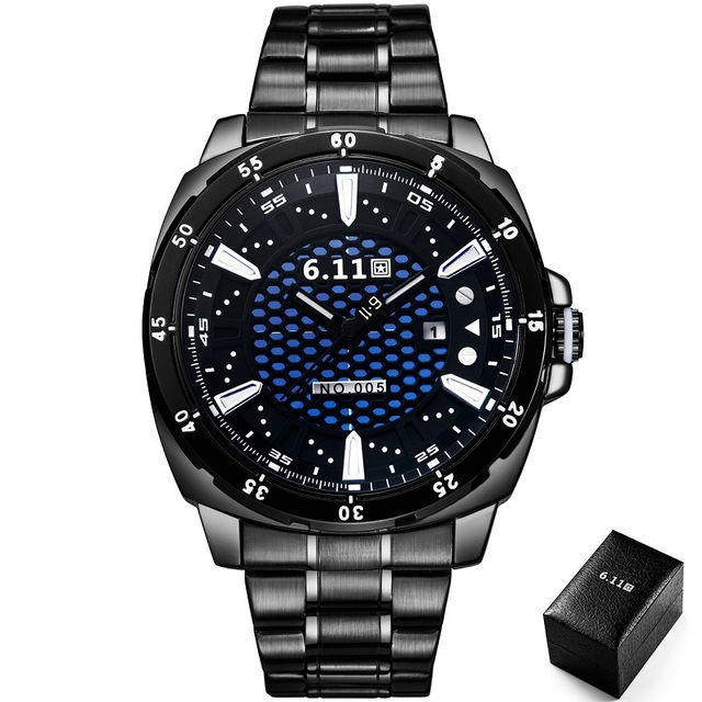 TIMI 2018 Men Fashion Solar-powered watch Full Steel Clock Army Military Outdoor Quartz Wrist Watch Casual Sports watches NO.005