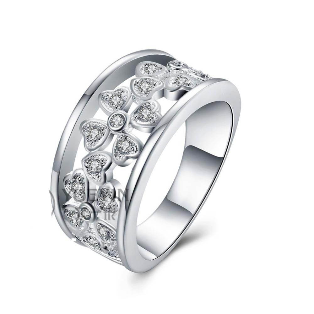 925 Sterling Silver Ring Clean AAA+ CZ Ring Jewelry For