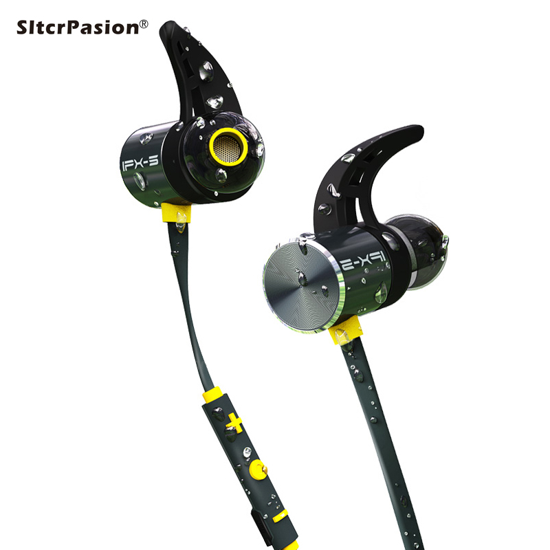 SltcrPasion Magnetico IPX5 Impermeabile Fone de Ouvido Bluetooth Stereo Con Microfono Bass Sport Kulaklik Auriculares Inalambrico