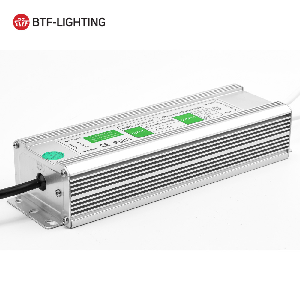 12V 10w/20w/30w/36w/45w/50w/60w/80w/100w/120w/150w/200w/250w Waterproof IP67 LED Power Supply Transformer Adapter For LED Strip