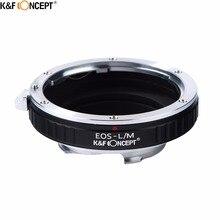EOS L/M 카메라 용 K & F CONCEPT Canon EOS EF 마운트 렌즈 용 렌즈 어댑터 링 Leica M LM L/M 렌즈 카메라 본체