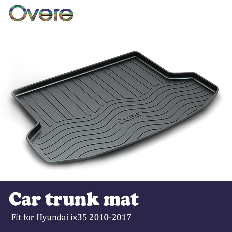 Overe 1Set Car Cargo rear trunk mat For Hyundai ix35 2010 2011 2012 2013 2014 2015 2016 2017 Boot Tray Anti-slip mat Accessories цена
