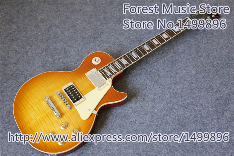 New Arrival Sunburst Jimmy Page LP Standard Electric Guitars China OEM Left Handed Custom Available chinese oem classical black beauty p 90 style pickup lp custom guitars electric left handed available