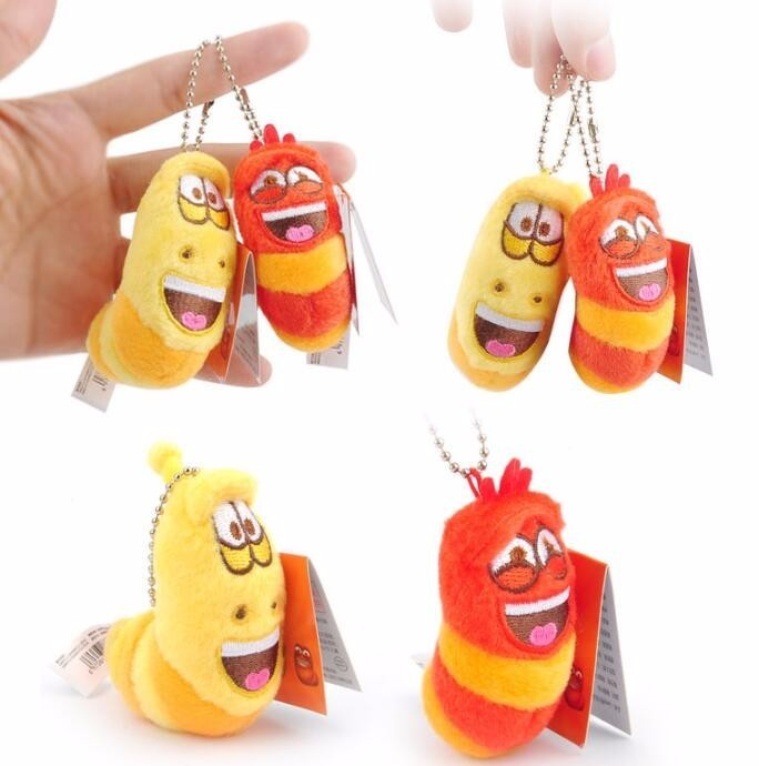 5/12cm Anime Fun Insect Slug Keychain Creative Larva Plush Toys Cartoon Candice Guo Stuffed Doll For Girl Kid Baby Birthday Gift