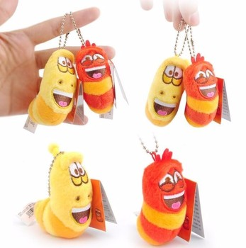 5 12cm Anime Fun Insect Slug Keychain Creative Larva Plush Toys Cartoon Candice Guo Stuffed Doll