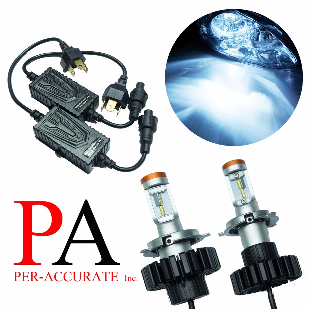 PA LED 1 SET x H4 HB2 9003 160W For PHILIPS ZES LED Headlight Kit Hi