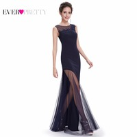 [Clearance Sale] Evening Dresses Ever Pretty HE08638 2017 Women Party Lace Mermaid Long Navy Blue Special Occasion Dress