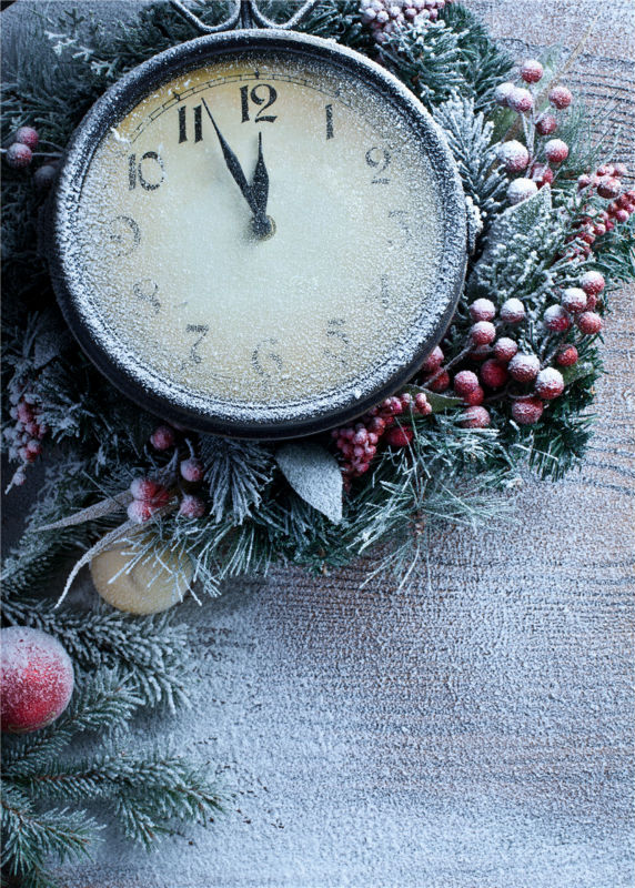 Christmas Photo Studio Snow Background Vinyl 5x7ft or 3x5ft  Watch Photography Backdrops Baby JieQX484