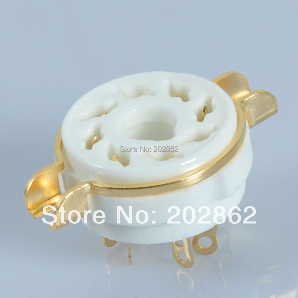6pcs/Lot 8Pin Octal Ceramic Chassis Tube Socket
