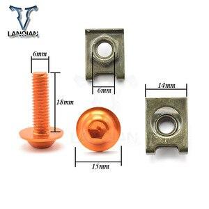 Image 5 - CNC 5 pièces 6mm moto carénage boulon Spire vitesse attache Clips vis pour Suzuki SFV650 GLADIUS TL1000S GSXR750 600KATANA B KING