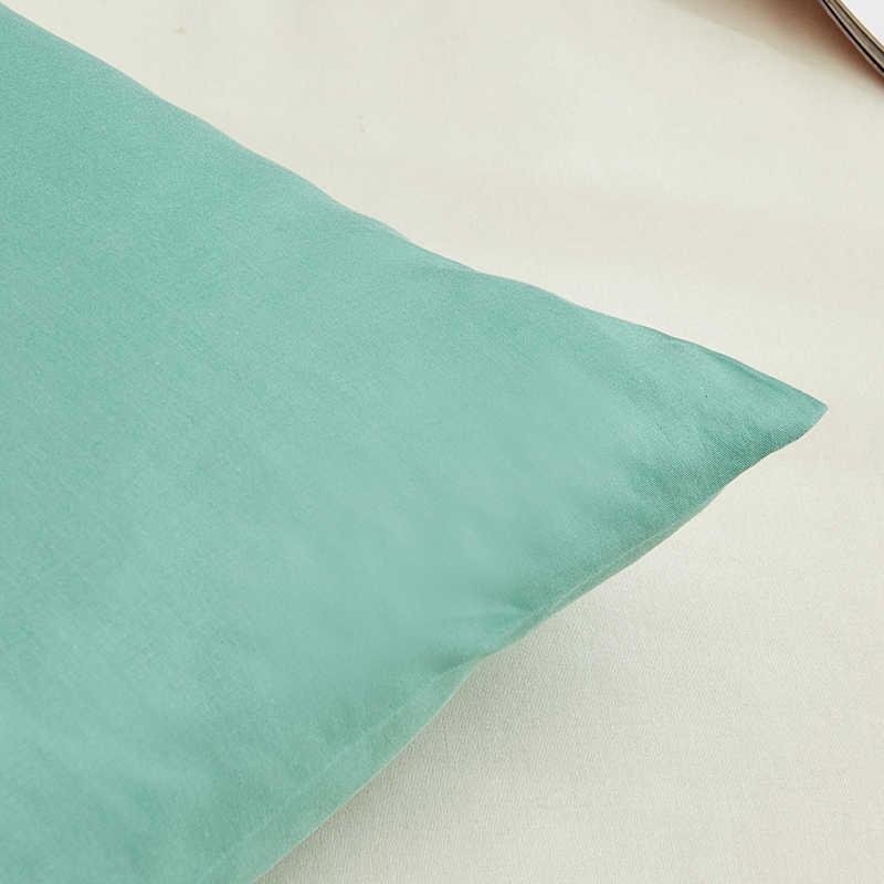 100% хлопок сплошной цвет кровать, наволочка 66*66 см 50*75 см розовый/синий/серый наволочка спальный Наволочка на подушку