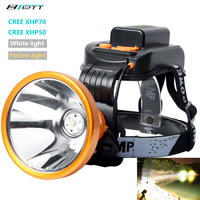 Headlight cree xhp70 or xhp50 lamp beads Built in 6*18650 lithium battery Direct charging Hunting Flashlight led headlamp