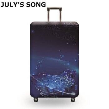 JULY'S ŞARKı Seyahat Bavul Elastik tozluk tekerlekli çanta Bagaj Koruma Kılıfı 18 ~ 32 inç Bavul Koruyucu Kapak