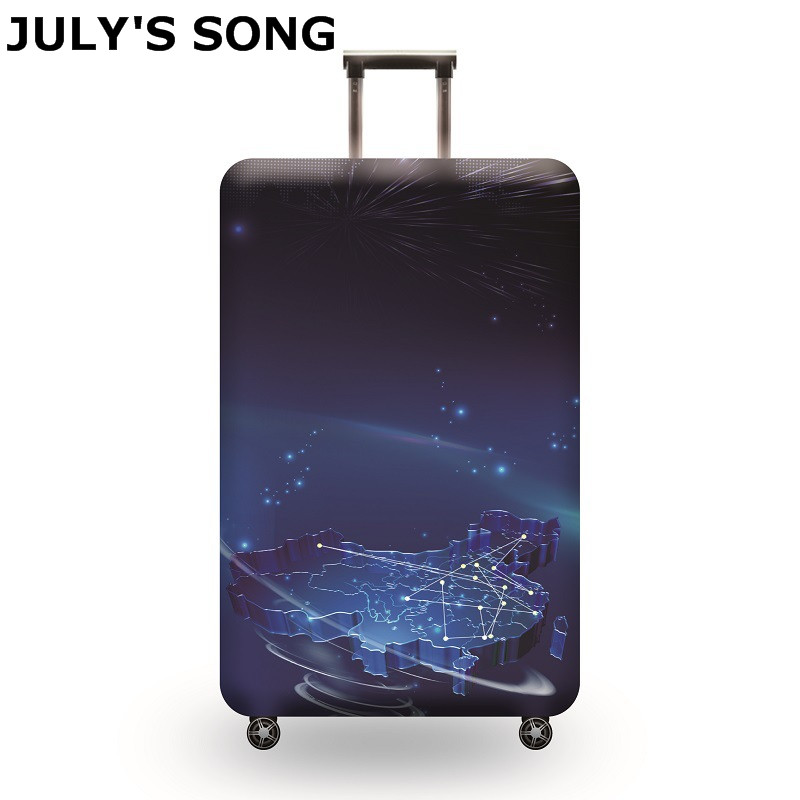 JULY'S SONG Travel Suitcase Elastic Dust Cover Trolley Case Luggage Protection Case For 18 ~ 32 inch Suitcase Protective Cover travel accessories fashion striped suitcase protection cover 18 32 inch trolley dust cover suitcase protective cover
