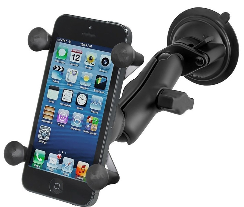 Generic Car Window Twist Lock Suction Cup Mount + Universal X-Grip Cell Phone Holder for iphone 7 6s smartphone for ram mounts lf07 car mount holder w suction cup for iphone samsung sony htc lg black