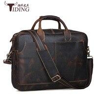 080818 newhotstacy мужские кожаные сумки мужской большая емкость 16 дюймов Сумка для ноутбука человек портфель деловая сумка