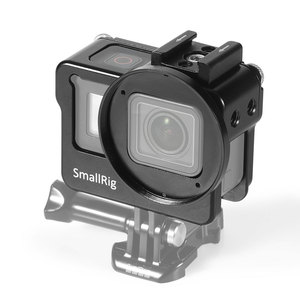 Image 2 - سمولتلاعب نموذج المناسب قفص ل GoPro بطل 7/6/5 كاميرا قفص مع حذاء بارد + 52 مللي متر تصفية جبل + دعم معالج الصوت 2320
