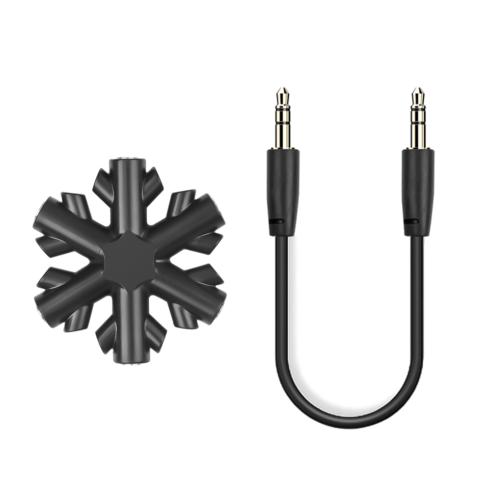 3.5 mm Audio Aux Splitter 1 male to 5 female or Music Mixer up to 5 inputs Color