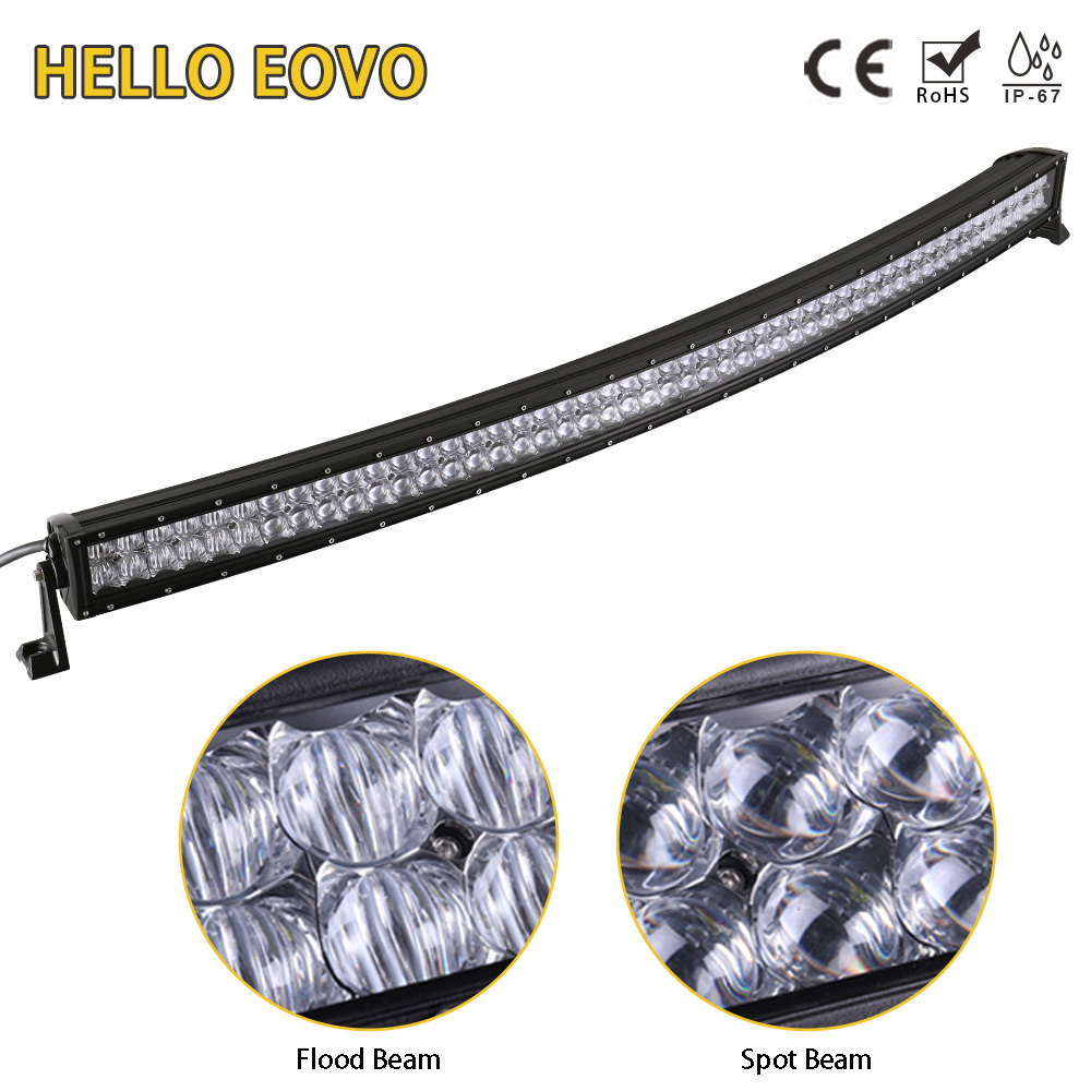 HELLO EOVO 5D 52 inch Curved LED Light Bar for Work Indicators Driving Offroad Boat Car Tractor Truck 4x4 SUV ATV 12V 24V hello eovo 22 inch led light bar for off road indicators work driving offroad boat car truck 4x4 suv atv fog combo 12v 24v