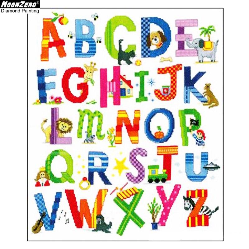 English Alphabet DIY 5D Diamond Painting Embroidery Cross Stitch Kit Home Decor