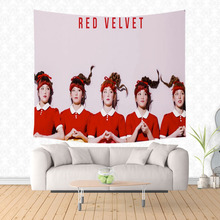 Home Furnishing Red Velvet Wall Hanging Tapestry Home Decorative Tapestries Wall Art Beach Towel Drop Shipping
